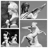 Myth artistic collage — Stock Photo