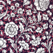 Dark red , white and black floral ornamental — Stock Photo #59725415