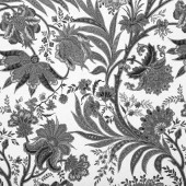 Floral black and white background — Stock Photo