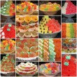 Gelatin sweets from italian pastry shop and bars — Stock Photo #59745049