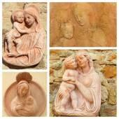 Koláž s madonna a dítě — Stock fotografie