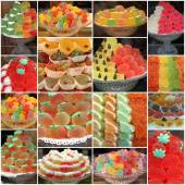 Gelatin sweets from italian pastry shop and bars — Stock Photo