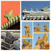 Ancient roof decorations — Stock Photo