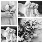 Antique condolences architecture — Stock Photo