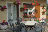 Italian garden terrace — Stock Photo