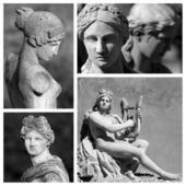 Classic sculptures collage — Stock Photo