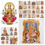 Hindu gods collage — Stock Photo #61465513