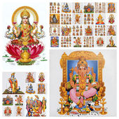 Hindu gods collage — Stock Photo