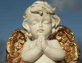 Praying angel figure — Stock Photo