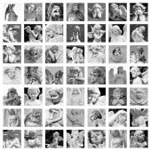 Guardian angels collage — Stock Photo