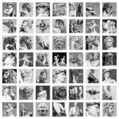 Ancient sculptures collage — Stock Photo