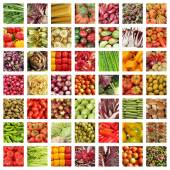 Colorful vegetable collage — Stock Photo
