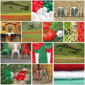 Italian pride collage — Stock Photo