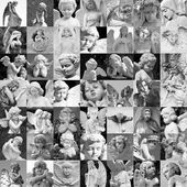 Angels sculptures collection — Stock Photo