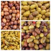 Marinated olive snacks — Stock Photo