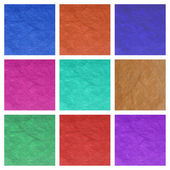 Color paper sheets collage — Stockfoto