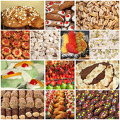 Italian sweets collage — Stock Photo