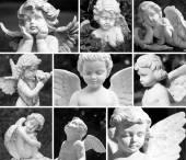 Vintage angelic guardians — Stock Photo