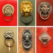 Old door knockers — Stock Photo #69436783