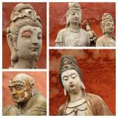 Group of images with  Buddhist gods, China — Stock Photo
