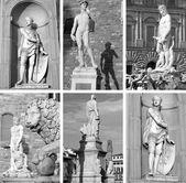 Famous sculptures on Piazza Signoria — Stock Photo