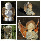 Angelic figurines collection — Stok fotoğraf