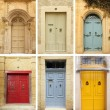 Elegant old doors collection — Stock Photo #69550907