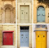 Elegant old doors collection — Стоковое фото
