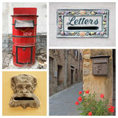 Collection of old postboxes — Stock Photo