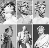 Famous florentine sculptures — Stock Photo