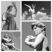 Group of mythological statues — Stock Photo