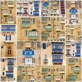 Многие окна и балконы — Стоковое фото