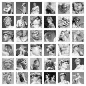 Collage of Sculptures in Florence — Stock Photo