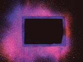 Priorità bassa dell'acquerello astratto dello spazio. — Foto Stock
