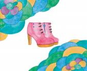 Watercolor shoes — Stock Photo