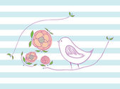 птичка. — Cтоковый вектор