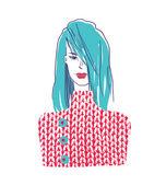 Fashion girl — Stock Vector