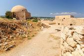 Citadel and mosque, Rethymno Fortezza, Crete, Greece — Stock Photo