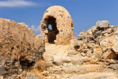 Ruined fire position - the remnants of war, Gramvousa fortress, Crete, Greece — Stock Photo