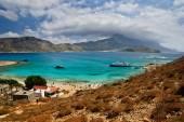 Gramvousa island with picturesque view of Balos lagoon, Crete, Greece — Stock Photo