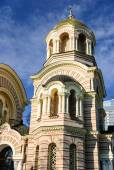 Tower of the Nativity of Christ Orthodox Cathedral, Riga, Latvia — Stock Photo