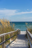 Footpath to beach in paradise — Stock Photo