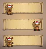 Christmas Elks Papyrus Sitting — Vetorial Stock