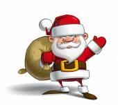 Happy Santa - Sack of Gifts — Stock Vector
