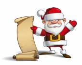 Happy Santa - Gift List — Stock Vector