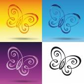 Butterfly Symbol — Stock Vector