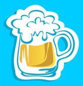 Beer glass — Stock Photo