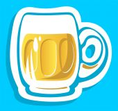 Beer glass isolated — Stock Photo