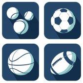 Conjunto de bolas brancas — Vetor de Stock
