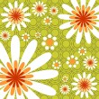 Green floral background — Stock Vector #65851253